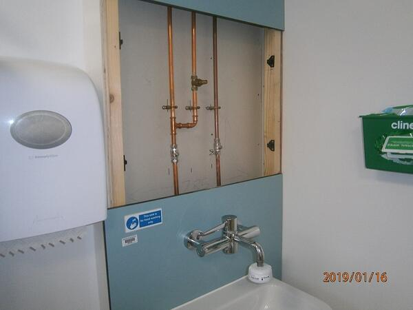open sink unit