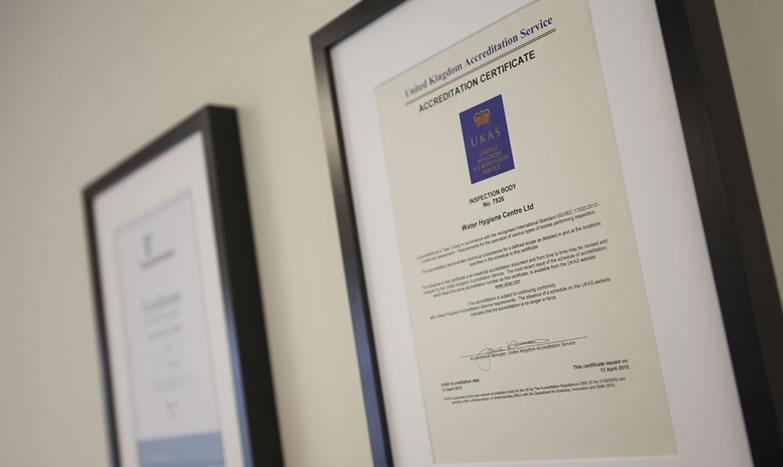 legionella certificate